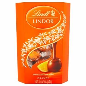 Lindt Lindor narancsos krémmel töltött tejcsokoládé bonbon 200G