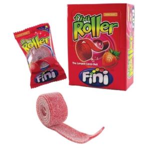 Fini Roller savanyú eper ízesítésű  gumicukorszalag 25G