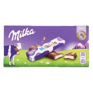 Milka tejes krémtöltelékkel töltött alpesi tejcsokoládé rudak 87,5G