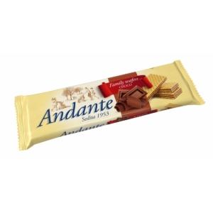 Andante csokoládés ízű krémmel töltött ostyák 130G