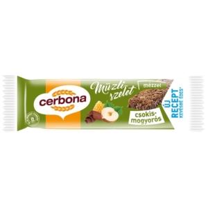 Cerbona Müzliszelet 20G Csokoládé-Mogyoró Kakaó Bevonattal