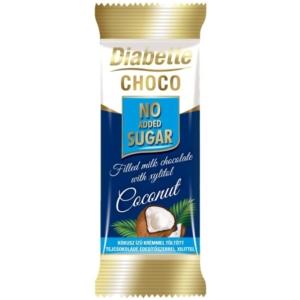 Diabette Nas Kókusz Ízű Krémmel Töltött Tejcsokoládé 22G