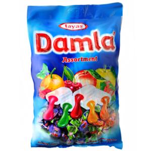 Damla vegyes gyümölcs ízű töltelékkel töltött puha karamella 1KG