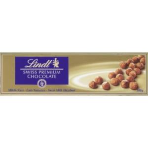 Lindt 300G Swiss Prémium Milk Hazelnut Tej, Mogyorós    /LNTL2102/