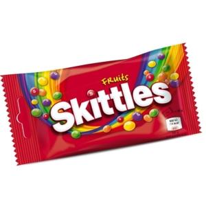 Skittles Gyümölcs ízű cukordrazsé ropogós cukormázban 38G