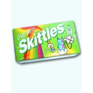 Skittles savanyú ízű drazsék ropogós cukormázban 38G