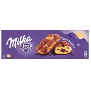 Milka piskóta csokoládé töltelékkel és csokoládé darabokkal