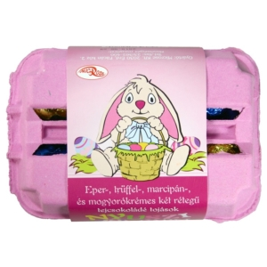 Microse Nyuszi Farm töltött tejcsokoládé tojások 6*30 g
