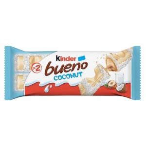 Kinder Bueno White Fehércsokoládéval bevont ostya tejes-kókuszos krémmel töltve 43G