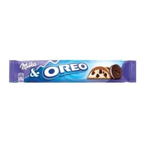Milka & Oreo kakaós kekszdarabokkal és vaníliaízű tejes krémtöltelékkel töltött alpesi tejcsokoládé  37 g