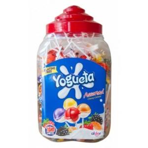 GAldor Yogueta Assorted gyümölcsös-joghurtos ízű Nyalóka+Rágó 100*17G