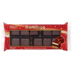 Only Dominos töltött étcsokoládé 125 g