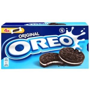 Oreo vanília ízű töltelékkel töltött kakaós keksz 4x44 g