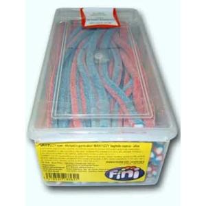 Fini Maxi eper-áfonya ízű savanyú gumicukor rudak 1.5KG