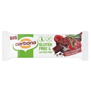 Cerbona csokis-meggyes gabonaszelet 35 g, gluténmentes, laktózmentes