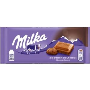 Milka habosított kakaós töltelékkel töltött alpesi tejcsokoládé 100 g