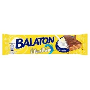 Balaton Újhullám tejcsokoládéba mártott, kakaós krémmel töltött ostya 33G