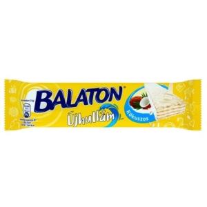 Balaton Újhullám Fehér csokoládéba mártott, kókuszos krémmel töltött ostya 33G