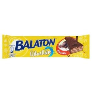 Balaton Újhullám Étcsokoládéba mártott, kakaós krémmel töltött ostya 33G