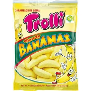 Trolli Bananas banán ízű gumicukor 100G