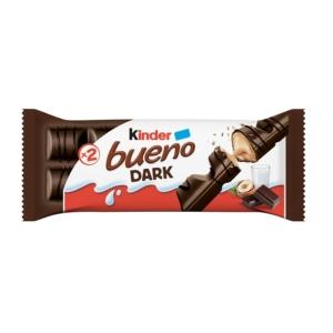 Kinder Bueno Dark Étcsokoládéval bevont ostya tejes-mogyorós krémmel töltve 43G