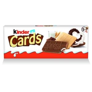 Kinder kártya alakú, tejes és kakaós töltelékkel töltött ropogós ostya 5 * 25,6 g