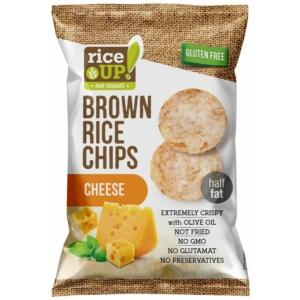 Rice Up! teljes kiőrlésű barna rizs chips sajtos ízesítéssel 60g, gluténmentes