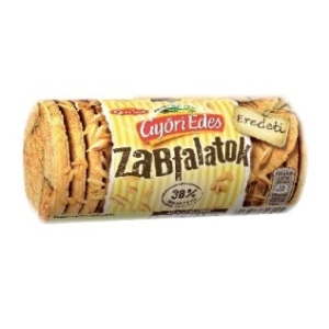 Győri Édes Zabfalatok zabpelyhes keksz 215G, 38% Zab