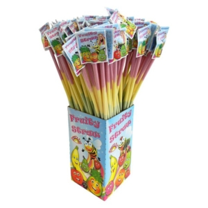 Sweet'N Fun Fruity Straws 12G