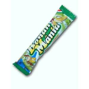 Banán Mánia Banán ízű habosított édesség kakaómassza bevonattal 20G