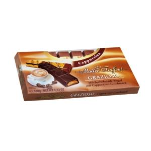 Maitre T. cappuccino ízű töltelékkel töltött tejcsokoládé 100G