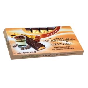 Maitre T. 100G Grazia tiramisu ízű tejcsokoládé szeletek 100G