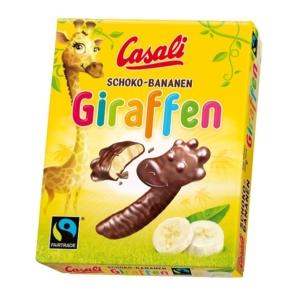 Casali Schoko Giraffen Csokoládés banán - habosított banánkrém csokoládéba mártva 150G