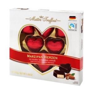 Maitre T.  Marzipan Herzen marcipán étcsokoládé bevonattal 110G