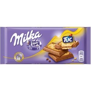 Milka 87G Tuc sós kréker alpesi tejcsokoládéba mártva 87G