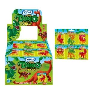 Vidal Dino Jelly gyümölcs ízű gumicukor 11 g