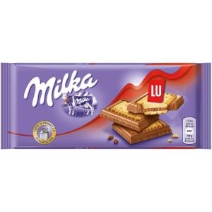 Milka LU alpesi tejcsokoládé ropogós kesszel 87G