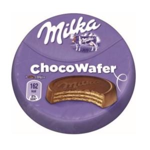Milka Choco Wafer kakaós töltelékkel töltött, alpesi tejcsokoládéval bevont ostya 30 g