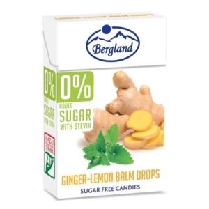 Bergland Drops 40G 0% Cukor Ginger-Lemon Balm