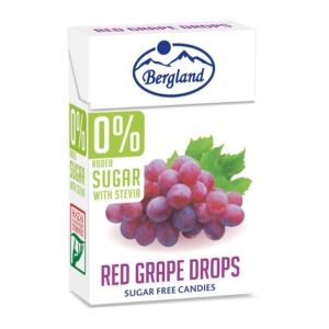 Bergland Drops 40G 0% Cukor Red Grape