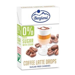 Bergland Drops 40G 0% Cukor Coffee Latte
