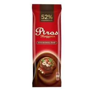 Piros Mogyorós 80G Étcsokoládé