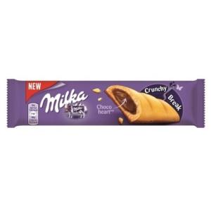 Milka Crunchy Break mogyoróízű, tejcsokoládés krémmel töltött keksz 26 g