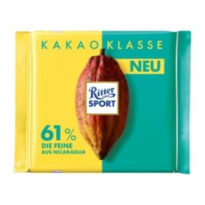 Ritter Sport Kakao Klasse 61% Tábla Csokoládé 100G