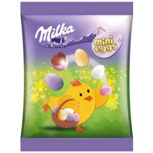 Tojás 100G Mini Milka Drazsé Tejcsokoládé Csibe
