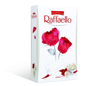 Raffaello ropogós, kókuszos ostyakülönlegesség, belsejében egész szem mandulával 80g