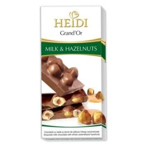 Heidi Grand'Or Hazelnuts Dark karamellizált egész mogyoróval töltött tejcsokoládé 100G