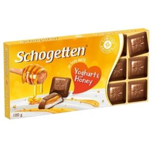 Schogetten Joghurttal És Mézzel töltött tejcsokoládé 100G