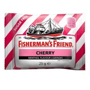 Fisherman's Friend cseresznye-mentol ízű töltetlen keménycukorka 25G Cukormentes