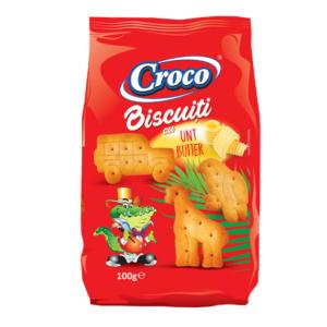 Croco Crackers 100G Mesefigurás Vajas Keksz